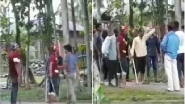 West Bengal Panchayat Elections 2018: 'TMC Workers' Barring Voters From Entering Polling Booth in Birpara | Watch Video