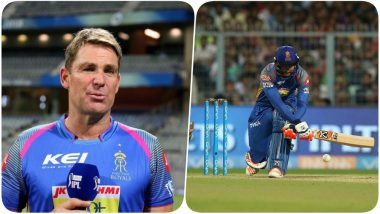 IPL 2018: Rajasthan Royals' Mentor Shane Warne SLAMS the Batsmen for Their Loss Against KKR