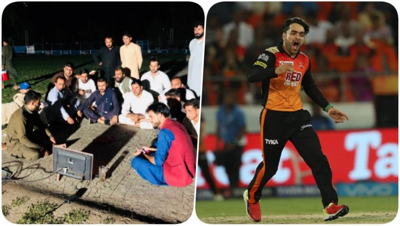 Rashid Khan IPL 2018 Heroic Watched by His Afghanistani Team Mates in Open Field With a Sheep in Company! Karim Sadiq Shares a Touching Pic