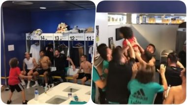 Watch Marcelo's Son Enzo Vieira Recreate His Father's Viral Video With Real Madrid's Junior Team