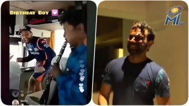 IPL 2018 Diaries Video: Rohit Sharma's Birthday Celebration in MI Team Bus & Then in the Hotel