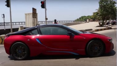 Sachin Tendulkar hits Mumbai Streets in his BMW i8 - Watch Video with Caravan of other Super Cars