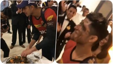 IPL 2018 Diaries Video: KKR's Shubham Gill Gets his Face Caked After Winning the Match Against CSK