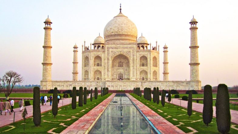 The Taj Mahal is turning brown and green