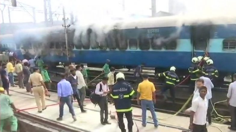 Jhansi Railway Station: Fire Breaks out in Passenger Train Coach