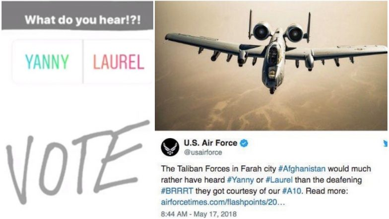 US Air Force apologizes for 'Yanny or Laurel' Afghan war tweet