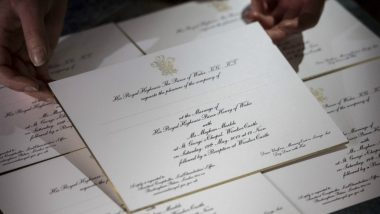 Prince Harry- Meghan Markle Wedding Invite: The Royal Wedding Invitation Cards Are Traditional But Have Gold Imprints