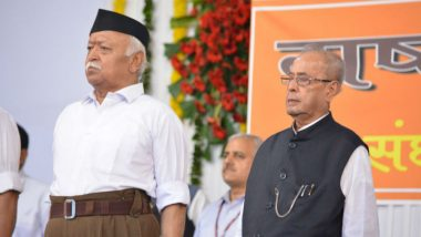 Pranab Mukherjee Gives a Strong Message on Nationalism to RSS Workers in Nagpur, Says 'India's Strength Lies in Tolerance, Hate Will Destroy Our Identity'