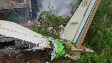 Ghatkopar Plane Crash Video: Watch Moment the Aircraft Crashes Into Under-Construction Site in Mumbai