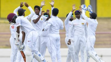 SL vs WI, 2nd Test: Unconvinced Over Change of Ball, Sri Lankan Players Refuse to Take Field, West Indies Awarded Penalty Runs