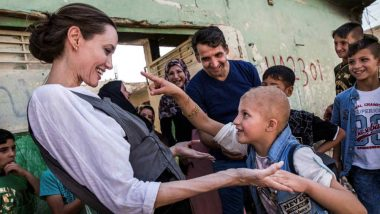 Angelina Jolie Visits Iraq's Mosul With UN, Says 'Worst devastation I've Seen' (See Pics)