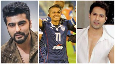 Sunil Chhetri Leads India to Victory in 2018 International Cup: From Arjun Kapoor to Varun Dhawan, B-Town Praises Indian Football Captain