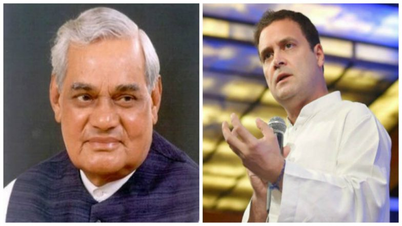 Rahul Gandhi Cites Visit to Atal Bihari Vajpayee at AIIMS in Mumbai Speech, Says 'Went to Meet Ailing Former PM as This is Congress Culture'