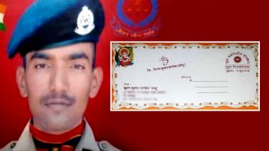 BSF Jawan VK Pandey, Martyred in Ceasefire Violation by Pakistan, Was Set to Get Married on June 20