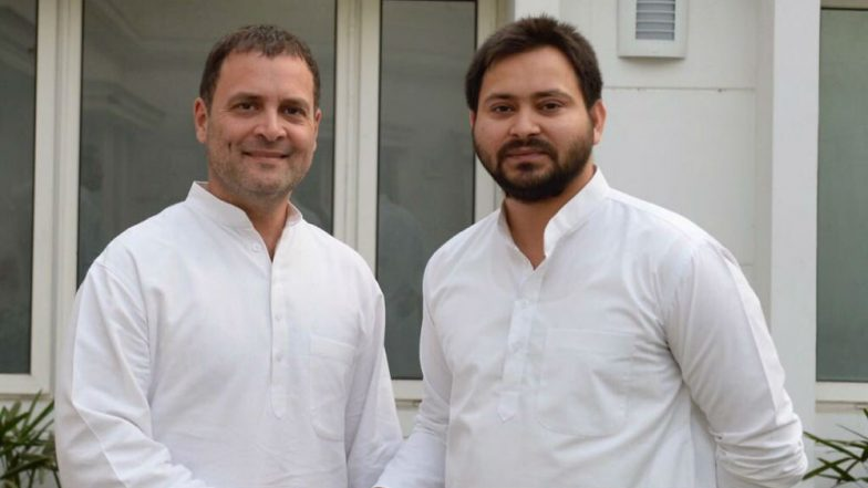 Tejashwi Yadav Meets Rahul Gandhi, Tweets 'We Shall Fight, we Shall Win'