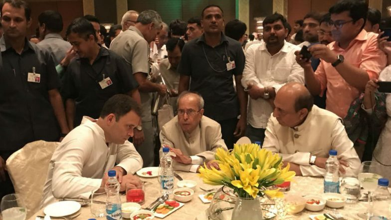 Rahul Gandhi Iftar Party: Pranab Mukherjee Attends Congress Dinner, Big Opposition Leaders Skip Event; See Pics