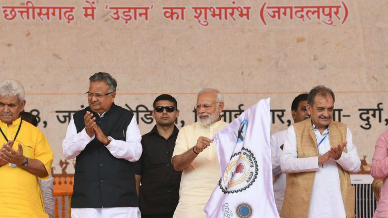 Narendra Modi Inaugurates Newly-Constructed Jagdalpur Airport in Bastar via Video Conference