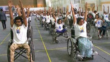 Differently-Abled Participants Attempt Guinness Record in Yoga