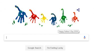 Father's Day 2018 Google Doodle is Made of Colourful Hand Prints in Cute Dino Shapes to Convey Beautiful Greetings!