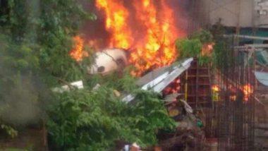 Mumbai Plane Crash: Lucky Escape For Over 30 Labourers at Ghatkopar Site Due to Lunch Break