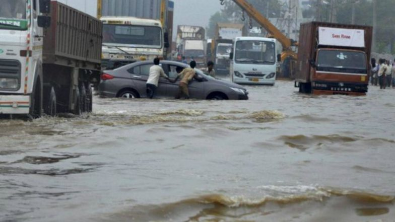 Heavy Rainfall Triggers Flood-Like Situation in Gujarat's Tapi: Watch Video