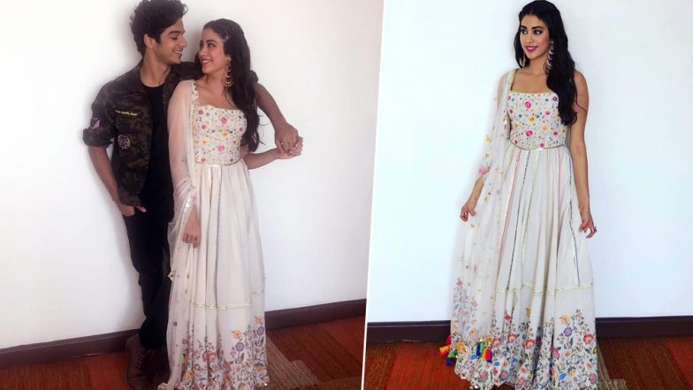 eae3d387c8b Janhvi Kapoor is a Vision in White at the Dhadak Title Track Launch with  Ishaan Khatter