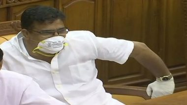 Kerala MLA Rakes Up Controversy Wearing Mask, Gloves in Assembly to Highlight Impact of Nipah Virus in Kozhikode