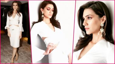 Kriti Sanon Opts for White Shivan and Narresh Dress at IIFA 2018 Press Meet - Is This Look a Hit or Miss (See Pics)