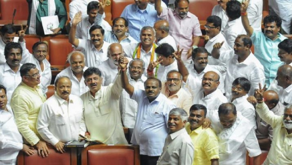 Karnataka Cabinet Oath Taking Ceremony Live Streaming on TV9 Kannada: Watch Congress, JD(S) MLAs Swearing-in as State Ministers