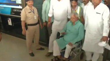 Fodder Scam: RJD Chief Lalu Prasad Returns to Patna After Treatment from Mumbai