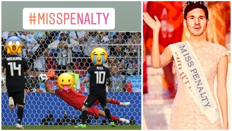 Image of: Crazy Lionel Messi Misses Penalty Kick At World Cup 2018 Twitterati Trolls The Argentina Captain With Latestlycom Lionel Messi Misses Penalty Kick At World Cup 2018 Twitterati