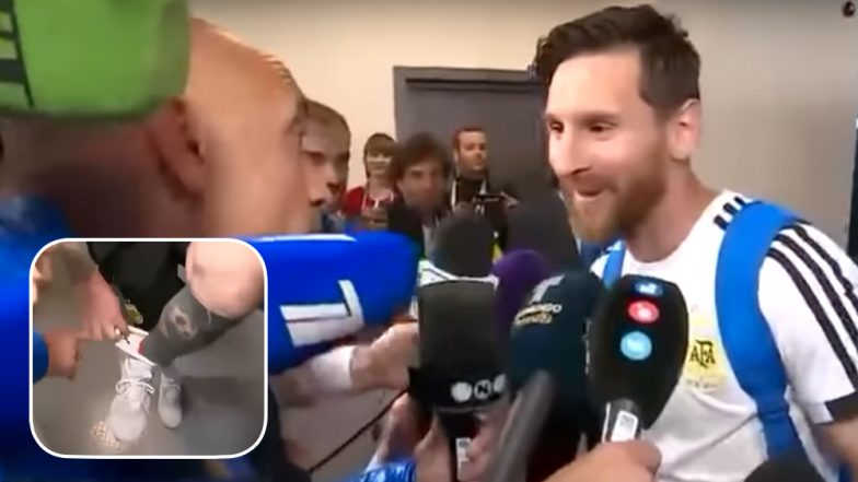 Lionel Messi Reveals Lucky Charm After Win Against Nigeria: Argentina Captain Thanks Journalist For His Gift! (Watch Video)