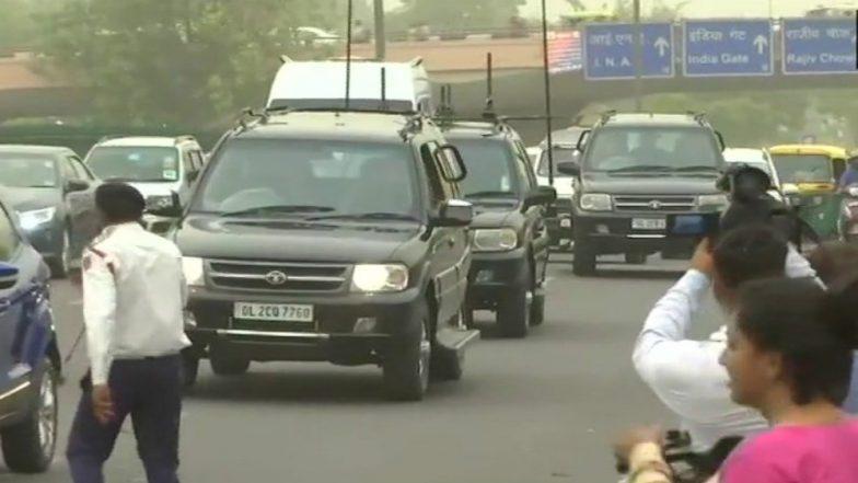 Former PM Manmohan Singh Visits AIIMS to Meet Atal Bihari Vajpayee