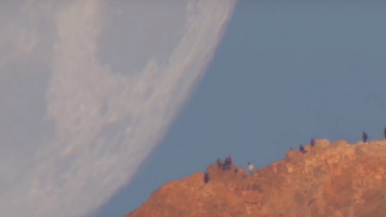 Moon Coming Down to Earth Captured by NASA in Real Video, Watch the Beautiful Sight from the Horizon