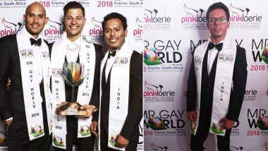 Mr Gay World 2018: Indian Man Samarpan Maiti from Kolkata Becomes Second Runner Up