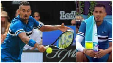Watch Video of Australia's Nick Kyrgios Spoofs Act of Masturbation with Water Bottle at Queen's Club Championship Match