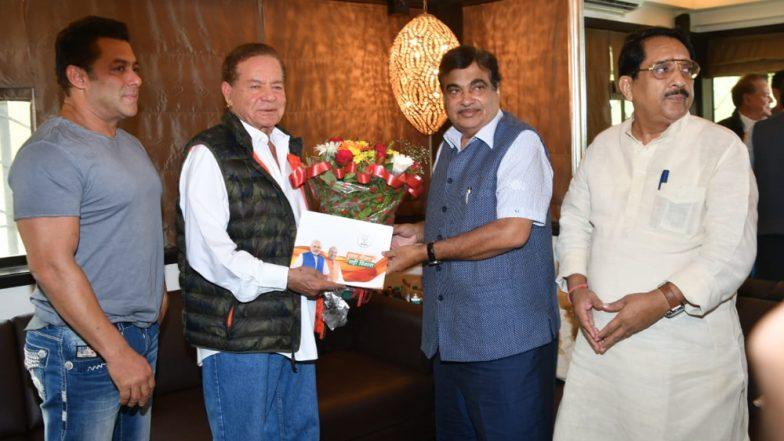 Nitin Gadkari Meets Salman Khan as Part of BJP's Sampark for Samarthan Drive Ahead of 2019 Lok Sabha Elections