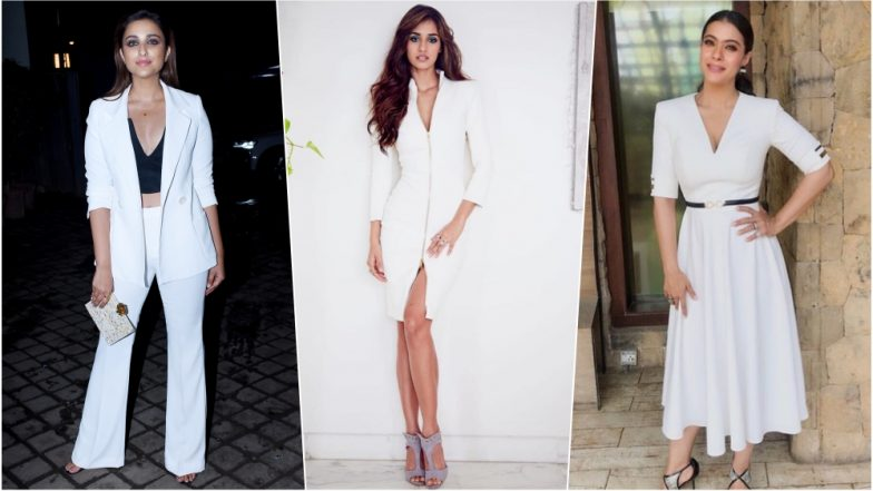 Disha Patani in Hot Bodycon Dress to Parineeti Chopra in Sexy Pant Suit, These Indian Actress Look a Vision in White (See Pictures)
