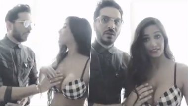 Sexy Poonam Pandey Makes a Guy Touch Her Boobs in 'Naughty FIFA 2018' Video and Twitterati Cannot Control Their Sleazy Thoughts!
