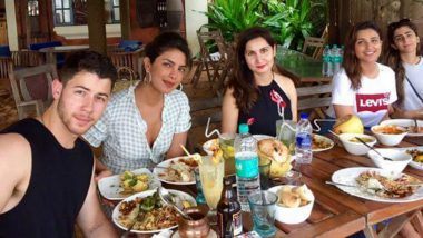 Priyanka Chopra With Beau Nick Jonas and Sister Parineeti Enjoy Delicious Indian Breakfast on a Family Vacation in Goa (See Pictures)