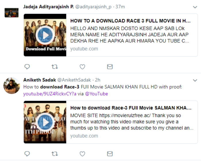 How to Download Race 3 Full Movie Online Links Shared by Twitterati