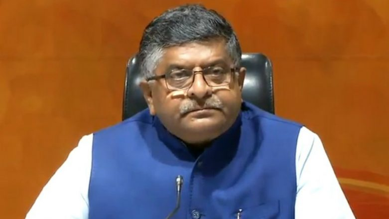 Government to Bring Data Protection Law to Protect Misuse of Information in Foreign Countries: Ravi Shankar Prasad