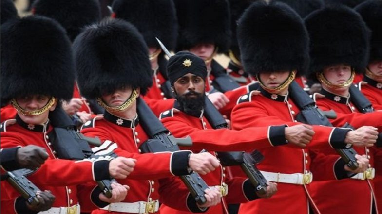 Sikh Guardsman First Soldier to wear Turban During Trooping the Colour Parade Marking Queen's Birthday