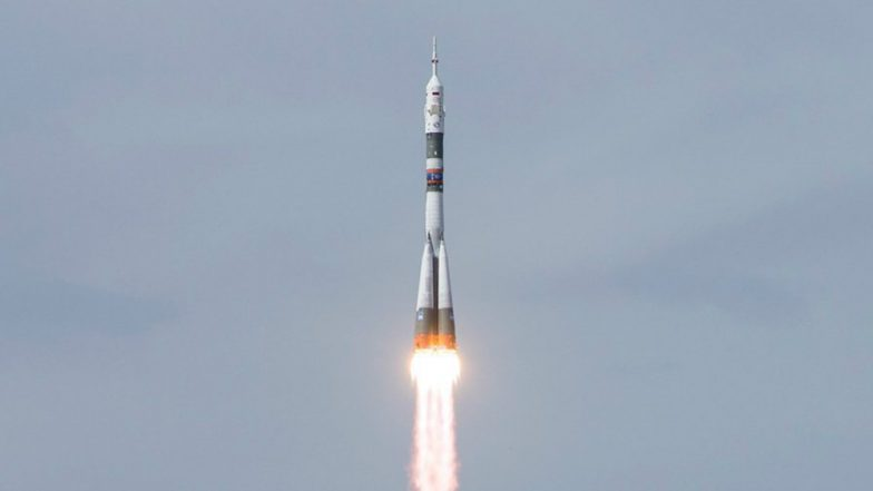 Astronauts launching to International Space Station