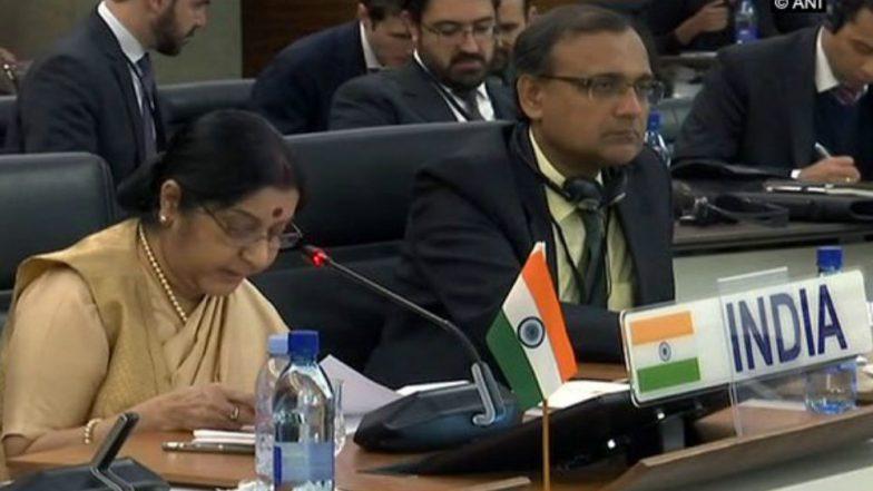 Sushma Swaraj Calls on BRICS Members to Effectively Deal Terrorism