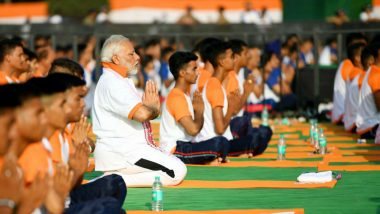 International Yoga Day 2019: PM Narendra Modi to Lead Celebrations in Ranchi Today, UN to Hold 'Yoga With Gurus' Event