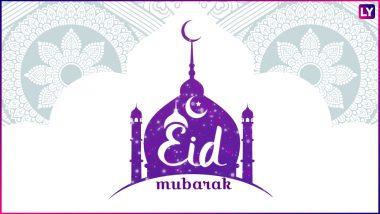 Eid Al-Fitr 2018 Shayari in Urdu: Wish Eid Mubarak This Eid Ul-Fitr to Your Love Ones With These Beautiful GIF Image Greetings