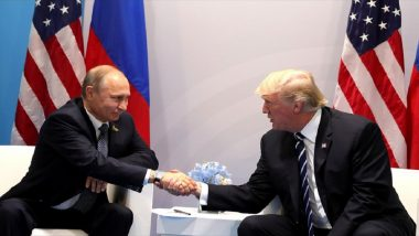 US President Donald Trump Hails 'Very, Very Good Relationship' in Talks with Vladimir Putin on Sidelines of G20 Summit