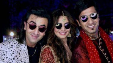 Sanju New Still: Ranbir Kapoor, Karishma Tanna and Vicky Kaushal Are in the Mood to Party