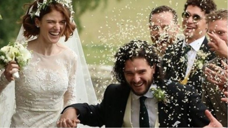 Kit Harington and Rose Leslie aka Jon Snow and Ygritte of Game of Thrones are Married! - See Pics